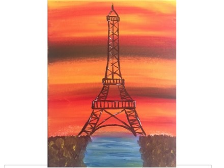 Painting in Paris Eiffel Tower