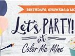 Color Me Mine Kids Parties
