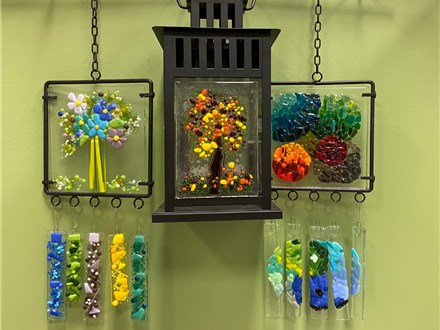 Glass Fused Lantern or Wind Chime Oct 13
