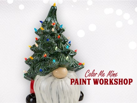 Gnome with Tree Hat Workshop Sunday, November 22 3:00PM-5:00PM