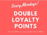 Mondays is Double Loyalty Points