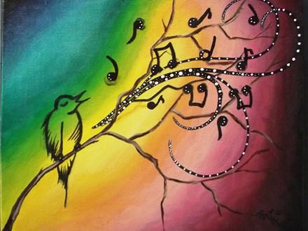 Songbird Paint Class by Rachel Sharpe