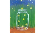 Catching Fireflies (ages 8+) 12x16 canvas