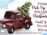Pre-order Vintage Pick Up Truck with Christmas Tree