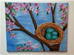 Eggs in a Nest Canvas Class