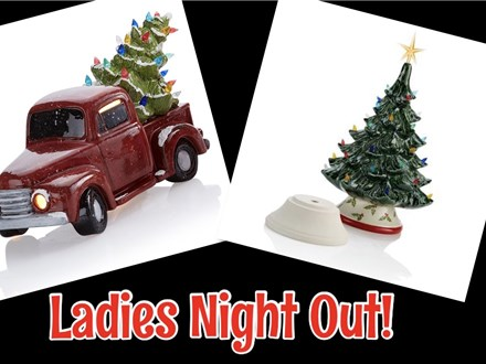 Christmas in... August!  Vintage Truck w/ Light Up Tree or Vintage Tree w Lights