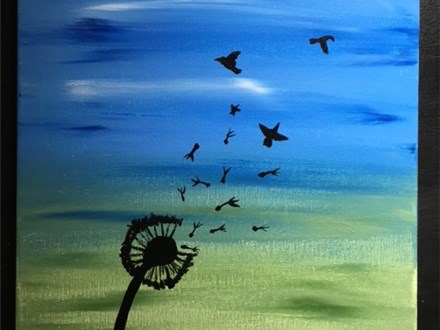 Dandelion Adult Acrylic Painting Class