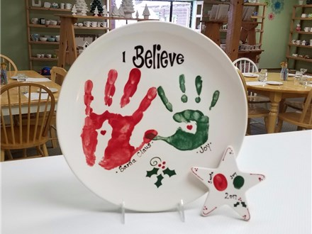 Paint with Santa at The Pottery Bug