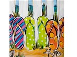 COLOR ME WINE - FLIP FLOP FLING CANVAS PAINTING TUESDAY, JULY 17