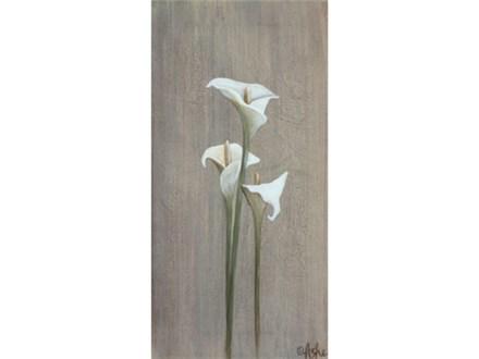 Calla Lilies - 10x20 canvas