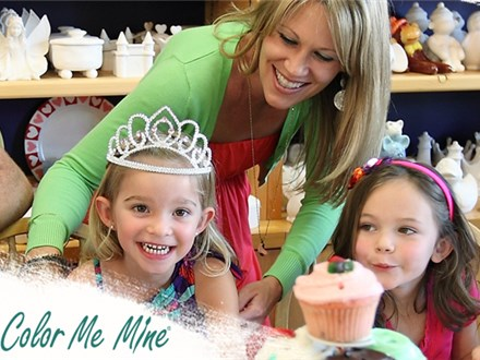 PRIVATE PARTY AT COLOR ME MINE OF AKRON - RENT THE ENTIRE STUDIO