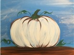 Painting In Paris White Pumpkin Acrylic Painting