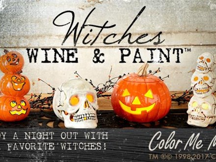 Witches Wine & Paint! Friday, October 30th at 6:00pm