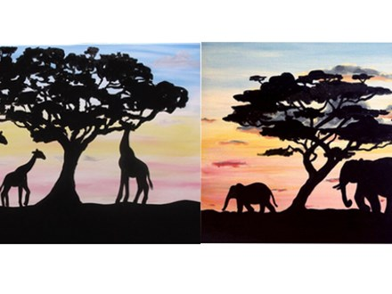 """Early Morning Safari"" - Choose from Elephants and Giraffes!"