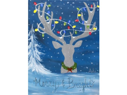 Merry and Bright - ages 15+  (Canvas 12x16)