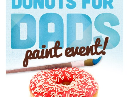 Donuts with Daddy at Color Me Mine - Oxford Valley Mall, Langhorne, PA