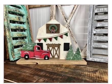 Oct. 9th Christmas Barn Set