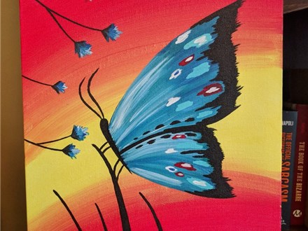Butterfly Paint & Sip (Toni) 4/18 6-9PM