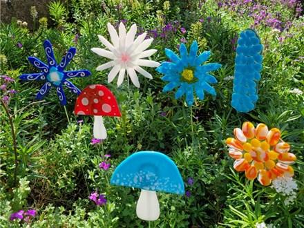 Glass Flower Garden Stake Class