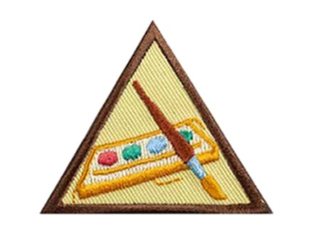 Girl Scout Brownie Pottery or Canvas Painting Badge