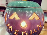 """order a small light-up (7"""") carved pumpkin"""