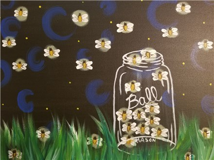 Paint Your Own Canvas Pack - Catching Fireflies