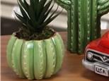 """ Barrel Cactus Planter"" To-Go Kit- at Color Me Mine - Aspen"