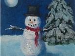 """Snowman Mini Canvas"""