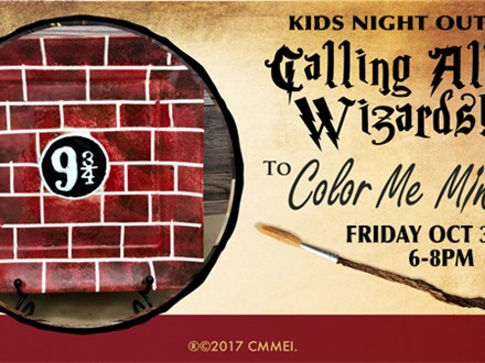 Wizards Kids Night Out at Color Me Mine of Akron - October 30th 6-8pm