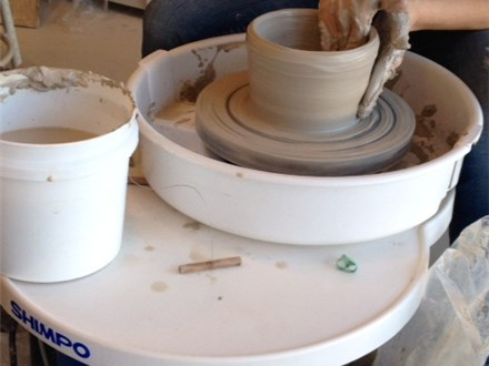 Sip and Spin Pottery Wheel Workshop (2/12/16)