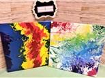 Rainbow Pour Canvas Class!