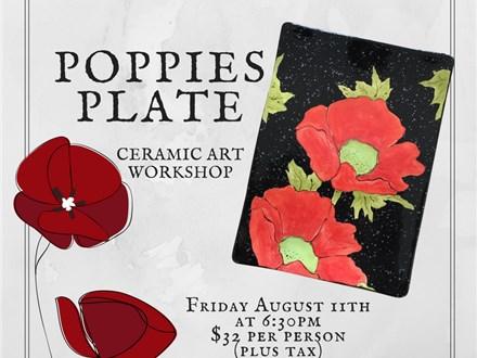 Poppie Plate-Ceramic Art Workshop