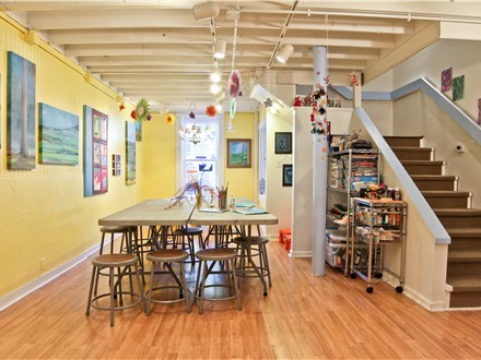 The studio is bright and cheerful and really requires no further decoration to make your party magical!