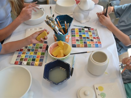 Outdoors Ceramic Painting Party!