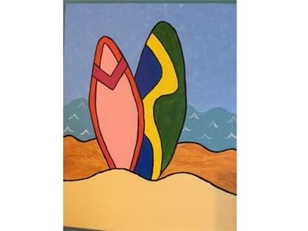 Kids' Canvas Class!  Surf's Up!  5/28/16