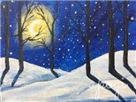 Winter Woods Canvas Event