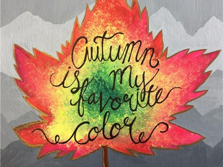 Family Canvas - Autumn is My Favorite Color - 10.22.17