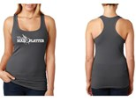 Mad Platter Racerback Tank - Charcoal