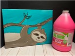 Kids Drop Off Painting Class - Bubbles, Sloths and SLIME