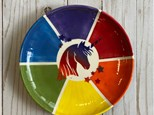 Art Club Week 4: Color Wheel Unicorn Plate