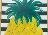 Summer Camp Pineapple Stripe Canvas Monday, July 26th 10AM-12PM