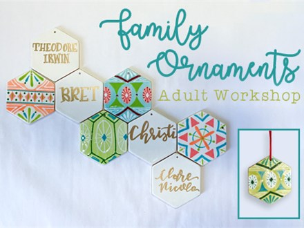 Adult Class: Family Ornaments - December 6th @6PM