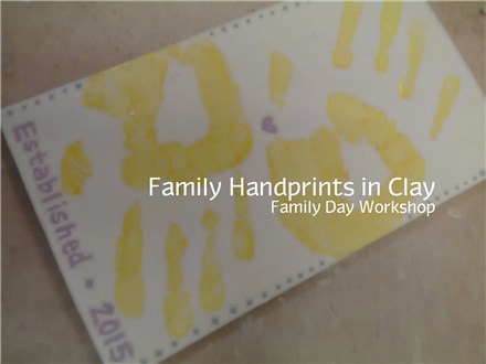 Parent & Child Handprints with Clay - Family Day