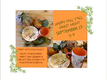 Happy Fall Y'all- Family Paint Party