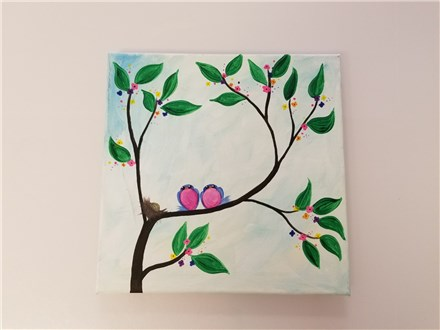 Bless Our Nest Canvas Class (AGE 12 AND UP) $30