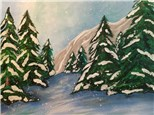 Paint Your Own Canvas Pack - Snow on the Pines