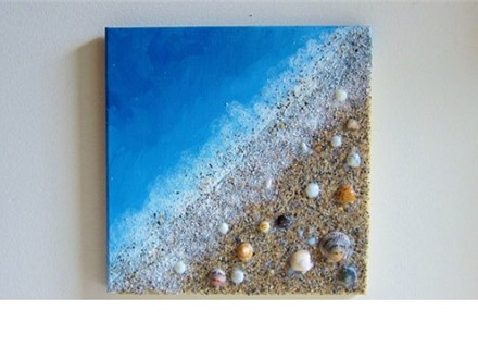 Seashells And Sand Canvas and Cocktails