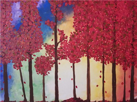 Canvas Painting: Autumn Trees - September 30, 2017
