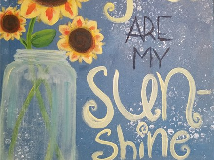 Paint Your Own Canvas Pack - You Are My Sunshine