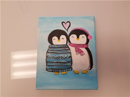 REPEAT Love Birds Mommy & Me Canvas Class (age 4 and up) $40